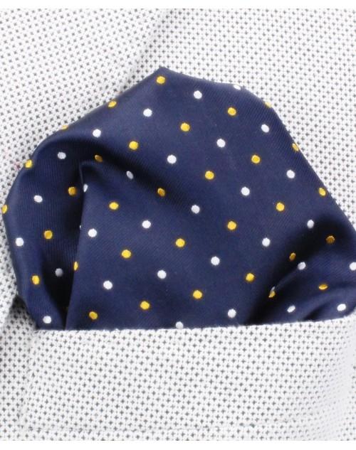 800-93 Azul Topos Amarillo/Blanco
